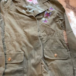 Children's place army green jacket new with tags